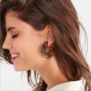 UO Style Dark Tortoise Hoop Earrings